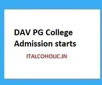 DAV PG College B.A First Semester Merit List 2019